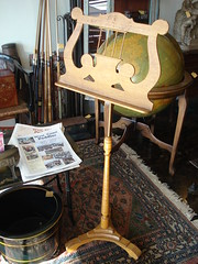 "BIRDSEYE MAPLE MUSIC STAND. • <a style=""font-size:0.8em;"" href=""http://www.flickr.com/photos/51721355@N02/13156531364/"" target=""_blank"">View on Flickr</a>"