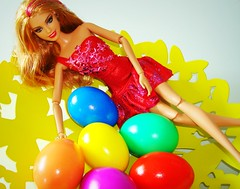 Easter Barbie (Deejay Bafaroy) Tags: pink blue red orange green rot yellow easter doll purple barbie lila gelb eggs grn blau ostern mattel puppe violett fashionistas eier happyeaster froheostern ostereier