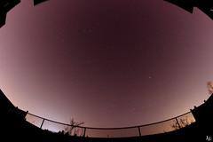 Shooting some stars (jess-gov) Tags: city sky moon fish toronto eye night canon lens stars photography star fisheye nightsky startrails jg t2i