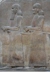 Relief from the palace of Sargon II at Khorsabad, 713 - 706 BCE (9) (Prof. Mortel) Tags: paris france louvre iraq mesopotamia assyrian sargonii khorsabad