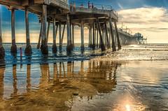 DRH_0270-Edit (David Horne1249) Tags: ocean sunset beach reflections pier nikon huntington pacificocean socal orangecounty oc oceanview huntingtonbeach huntingtonbeachpier surfcity beachphotography californialifestyle nikond7000