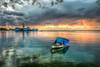 War & Peace ( Thanks all my 10000 followers ) (Nejdet Duzen) Tags: trip travel sunset sea reflection turkey boat cloudy türkiye deniz sandal izmir günbatımı yansıma turkei seyahat kayık seamuseum bulutlu inciraltı denizmüzesi ilobsterit