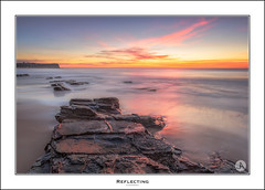 Reflecting (John_Armytage) Tags: longexposure pink beach clouds sunrise dawn rocks australia textures pastels nsw warriewood canon1740 leefilters warriewoodbeach canon5d3 johnarmytage