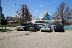 Parking with a Billion Dollar View (johndecember) Tags: usa cars car wisconsin spring parkinglot view album parking may milwaukeeartmuseum milwaukee mam mke 2016 surfaceparking billiondollarview