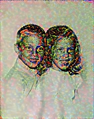 Processed Siblings (sjrankin) Tags: family me children michigan edited detroit krista processed filtered c1965 25may2016
