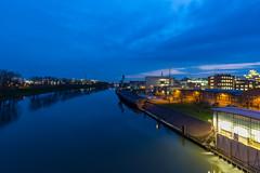 Frankfurt Hoechst Industriepark (domarffm) Tags: blue industry river germany hessen frankfurt main bluehour hoechst hchst industriepark
