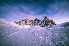 Purple hour (Andrea Securo) Tags: lake mountains travelling up montagne trekking walking landscape landscapes san long exposure hiking stones live extreme over free running adventure trail majestic martino trentino dolomites matternhorn