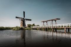 Windmill (flamelab.de) Tags: bridge summer reflection building water netherlands windmill kinderdijk wordheritage