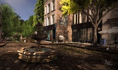 By the old fountain (Vita Camino) Tags: plaza new summer fountain camino mesh places visit best sl secondlife tuscany af rent sim vita locations slur destinations rentals gacha