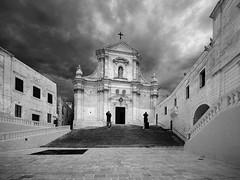 Gozo Cathedral (albireo 2006) Tags: blackandwhite bw church blackwhite malta pb nb bn cittadella gozo blackandwhitephotos blackwhitephotos gozocathedral