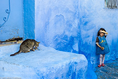The girl and the cat (DRoofing163) Tags: street girl cat nikon social chaouen marruecos 2014 d3s