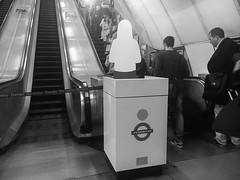 (Max Nathan) Tags: urban white black london technology ghost crowd cities holborn infrastructure tubestation commuting londonunderground fail londonist 645pro iphone6s