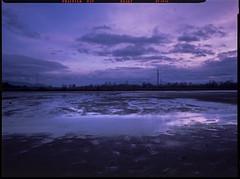 Czechowice-Dziedzice, Poland. (wojszyca) Tags: reflection fuji dusk slide wanderlust velvia cameras epson 4x5 50 90mm fujichrome 90 largeformat 9x12 gossen rvp schneiderkreuznach 4990 angulon lunaprosbc travelwide transparencylandscape