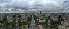 Paris (hoochie740) Tags: panorama paris arcdetriomphe dfense