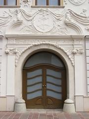 Klobuick Palace, Preov (DeBeer) Tags: architecture facade emblem symbol decorative decoration relief ornament slovakia baroque annunciation 18thcentury stucco rococo putti presov 1756 preov 1750s 18thcenturyart klobuick klobusiczky