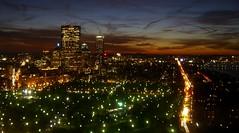 Boston Dusk (walknboston) Tags: sunset sky colors boston night clouds landscape ma cloudy dusk massachusetts casio casioexilim exilim