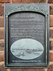 Photo of William Allcard black plaque
