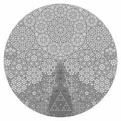 Secrets Hidden in Maths (fdecomite) Tags: circle geometry packing math gasket povray tangent recursivity imagej tangency apollonian ivrejp