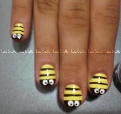 Abelha (laísa creatto) Tags: nail abelha amarelo unha francesinha