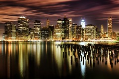 New York City on 11/28/2011 (mudpig) Tags: nyc newyorkcity longexposure newyork reflection night skyscraper geotagged downtown cityscape dumbo gehry financialdistrict eastriver gothamist wallstreet fdrdrive hdr southstreet seaport woolworthbuilding brooklynbridgepark freedomtower mudpig beekmanplace stevekelley beekmantower 60wallstreet 8sprucestreet oneworldtradecenter stevenkelley