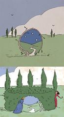 Illustration Friday: Round (tanaudel) Tags: door art illustration fairytale digital pen ink gate drawing illustrationfriday hedge round mulberrybush