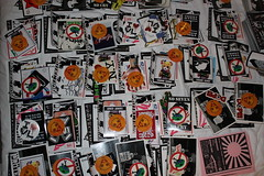 Sticker packs given away at Stick & Move (ExecutiveProtectionMFG) Tags: pink japan tokyo cow move stick executive protection combo