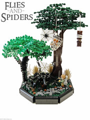 Flies and Spiders (Blake's Baericks) Tags: trees castle classic grass forest dead spider photo lego image contest scene lord cc lotr rings ccc quest blake hobbit colossal bilbo baggins dwarves knightly baer mirkwood