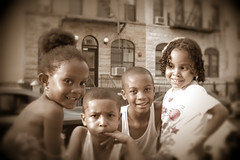 The 2012 Little Rascals (SAINTROCK NYC) Tags: boy urban boys girl smiling brooklyn youth children toddler child bushwick bedstuy blackchildren blackkids africanamericanchildren