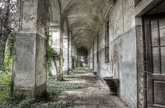 Nature takes over (odin's_raven) Tags: urban abandoned nature hospital exploring explorer corridor asylum hdr ue reclaim urbex talkurbex
