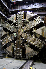 Tunnel Boring Machine finishes first lap between Capitol Hill and the Paramount Theater in downtown Seattle (SoundTransit) Tags: seattle construction trains link tbm soundtransit tunnelboringmachine linklightrail ulink
