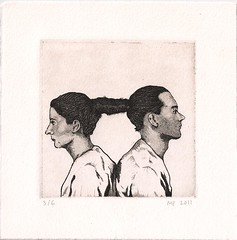 Relation in Time ( mona p.) Tags: etching aquatint marinaabramovic ulay relationintime