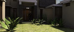 Desain rumah modern minimalis di daerah Rawamangun2 (rumahdesain2000) Tags: jakarta minimalis elegan mushola batualam preliminarydesign rumahibadah 2lantai projectlists