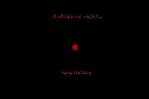 Rudolph at night... 9/24