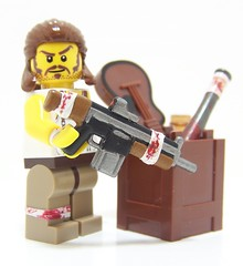 Apoc Redneck (Silenced_pp7) Tags: brick painting hair blood paint arms lego fig guitar painted mullet bat mini assault creation redneck minifig forge custom heavy bandage vignette facial minifigure apoc moc hac minifigures brickarms brickforge