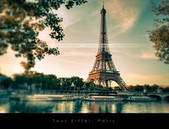 Tour Eiffel, Paris (Beboy_photographies) Tags: paris france sunrise canon soleil tour mark eiffel ii 5d lever matin