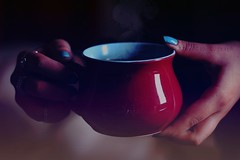 Untiteled !! [1] (SnAfeeR) Tags: morning girls light sun cute love glass colors girl lady angel canon lens hope 50mm gold model hands colours peace hand nail dream picture pic calm mug lovely coffe advertizing accessorize  colooors samaher