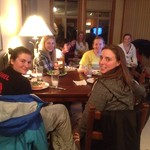 BC Team Girls at Dinner during the 2011 Panorama Nor-Ams PHOTO CREDIT: Karen Gardner