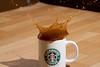 Coffee Splash (Rossini7) Tags: water coffee canon 300d flash sigma starbucks splash 105mm coffeesplash