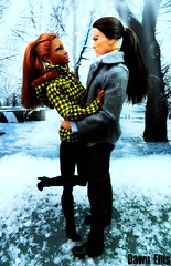 Baby It's Cold Outside (Dawn Ellis) Tags: doll ken barbie sis kendoll blackdoll coldoutside barbieandken blackbarbie blackdolls aabarbie dolldiorama soinstyle soinstylekara barbiepivotal kenjapan