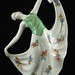 176. Unusual Painted Figural Flower Frog