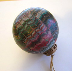 Feathered ornament (susanwhitestudio) Tags: christmas ornaments clay polymer feathering