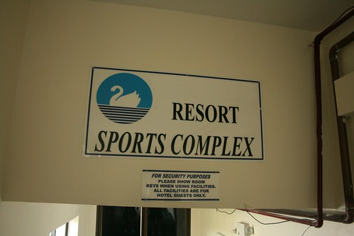 Resort Sports Complex with tight security