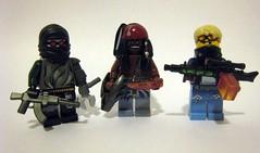 Cyberpunk Gangsters (The Brick Guy) Tags: lego lol aliens meme custom cyberpunk ak47 historychannel glaive minifigures mg42 needler district9 brickarms