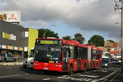 State Transit Authority (Sydney Buses) Volvo B12BLEA 2161-ST articulated Red Metrobus on Route m50 from Coogee to Drummoyne. (express000) Tags: volvo australia nsw rozelle metrobus nswaustralia sydneybuses volvobuses busesinaustralia australianbuses redmetrobus volvob12bleaarticulated rozellensw statetansitauthority