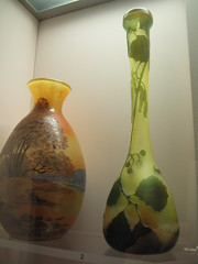 from Portland (Maine) Museum of Art Glass Collection 3 (catchesthelight) Tags: art glass colors leaves maine shapes naturallight exhibit noflash artnouveau vase iridescent organic colourful 20thcentury vases luster artglass lustre portlandmuseumofart aworkofart itsmulticolored wwwportlandmuseumorg