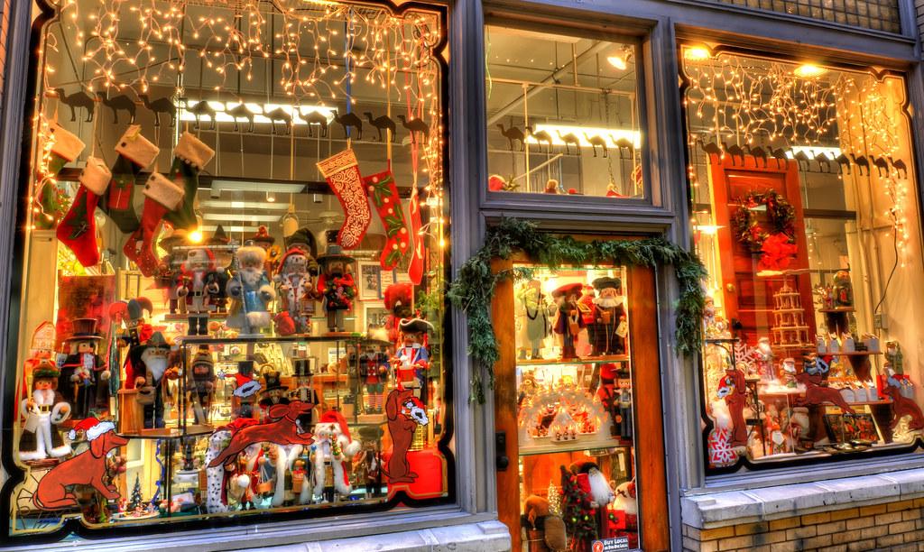 A Christmas gift shop