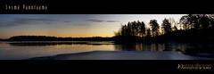 Sysmä panorama (Chrisseee) Tags: panorama lake tree ice sunrise canon finland frozen december silhouettes sysmä kristiinahillerström chrisseee joutsjärvi