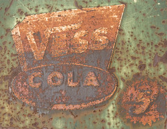 5 (Jon Matthies) Tags: red arizona orange abstract black green sign metal rust jon paint cola antique 5 decay cent country flagstaff barts steakhouse coconino vess matthies