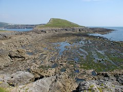 Looking from the 'Outer Head' of the Worm's Head Headland, over the 'Inner Head' to the mainland (Richard Allaway) Tags: wales landscape coast 365 geography ecosystem landform