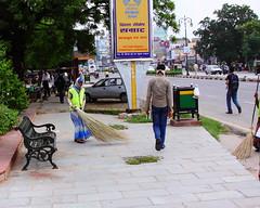 "1927 Jaipur, Rajasthan, India (Traveling Man – Traveling, back soon) Tags: city woman india man amber indian capital jai sari jaipur broom rajasthan ii"" singh sweeper subcontinent city"" india"" ""south sawai ""street canonef24105mmf4lisusm ""republic scene"" canoneos50d ""pink asia"" ""maharaja markaveritt sweeper"""